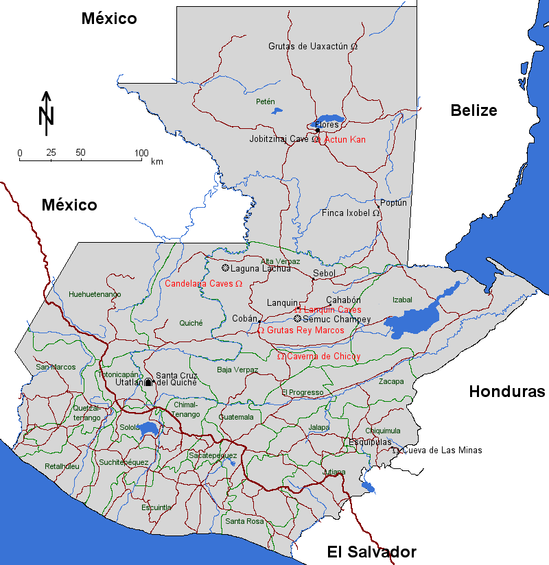 Map Of Guatemala - Candelaria map