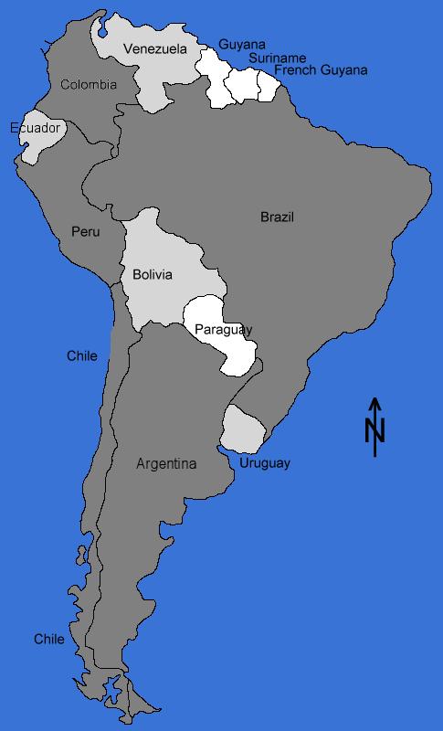 Maps South America
